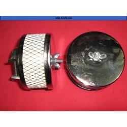 FILTRO AIRE TIPO UNIVERSAL CROMADO, COM (66-87), BRA (70-84), VW SEDAN (66-92)