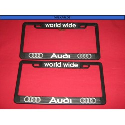 PORTA PLACA AUDI WORLD WIDE