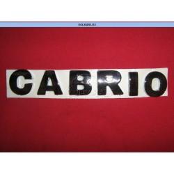 """EMBLEMA """" CABRIO """" CABRIO 99-AD"""