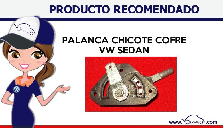 Palanca chicote cofre vw sedan